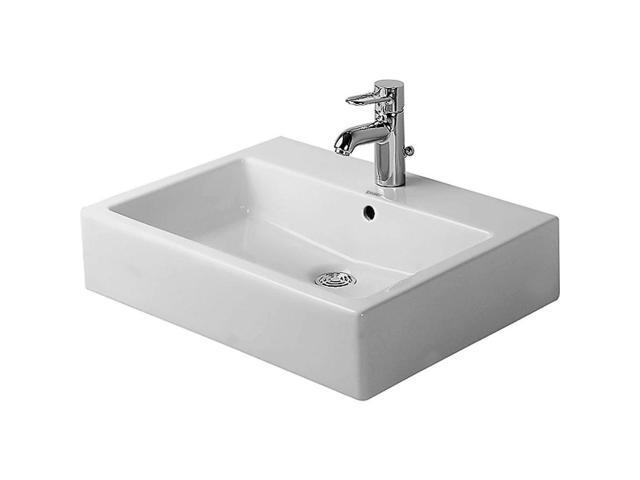 Duravit Vero washbasin in white, wall mounted with three hole tap ...