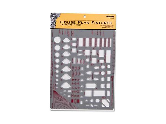 "Templates, Architect & Builder Symbols, 8"" X 12"", Smoke"