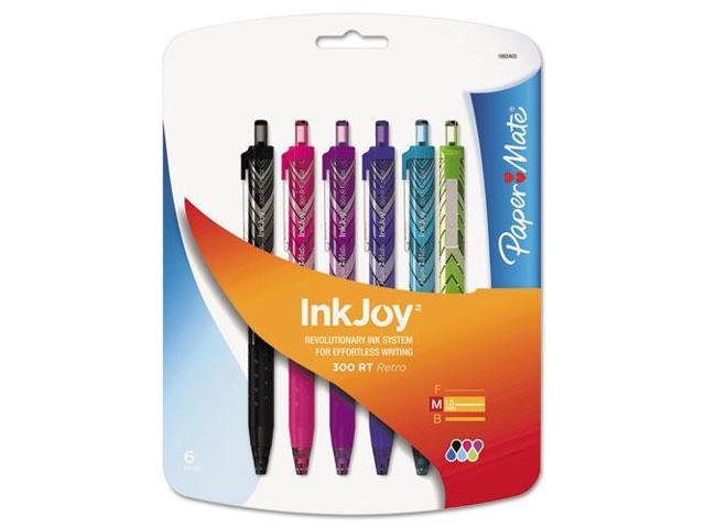 InkJoy 300RT Fashion-Wrap Ballpoint Pen Assortment, 1mm, 6/Pack