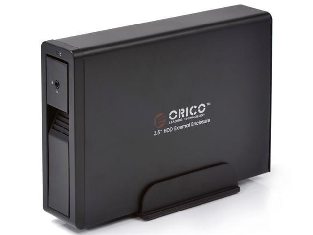 "Orico 7618SUS3-BK Tool-Free USB 3.0 & E-SATA Interface Metal 3.5"" SATA HDD Enclosure (Black)"