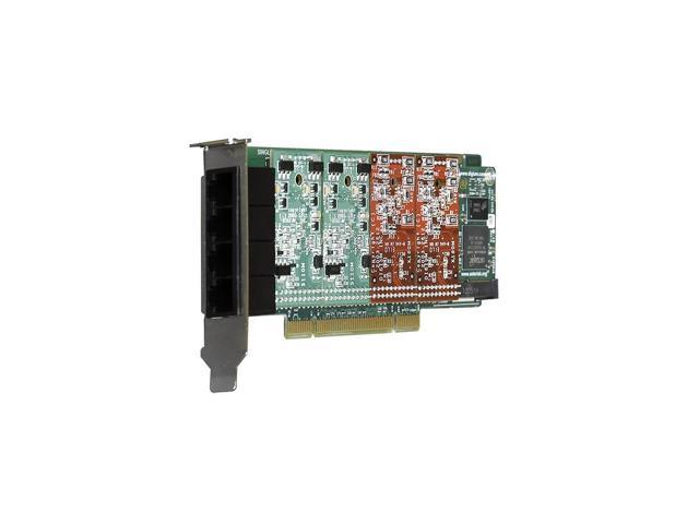 Digium 1A4A03F 4 Port Modular Analog PCI 3.3/5.0V Card with 4 Trunk Interfaces