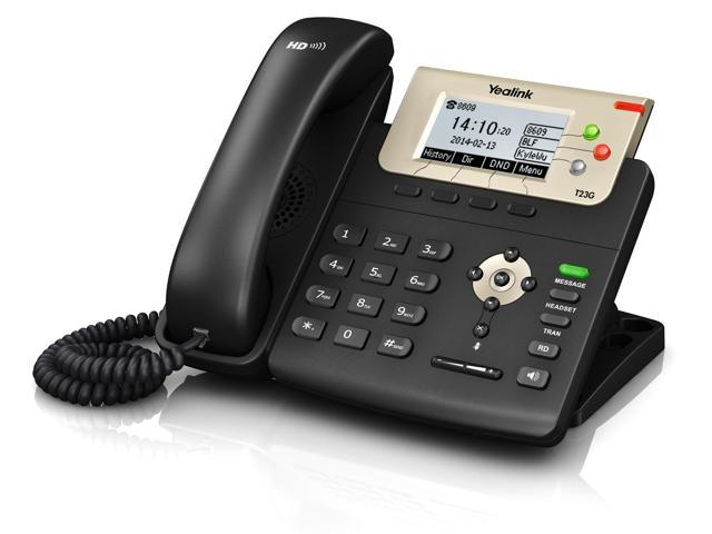 Yealink SIP-T23G, 3 Lines HD Professional VoIP Phone, POE, No Power Supply