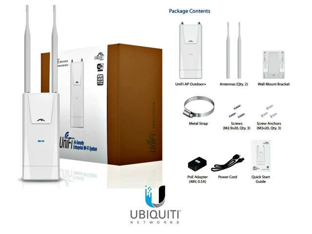 Ubiquiti UAP-Outdoor+, UniFi AP Outdoor+ 2.4GHz PoE 802.11n 300Mbps up 600 ft