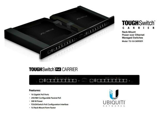 Ubiquiti TS-16-CARRIER 16 Port Gigabit TOUGHSwitch PoE CARRIER Managed L3 300W