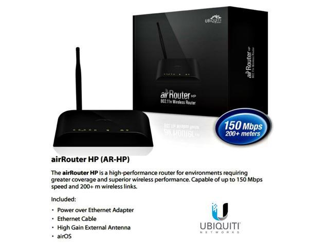 Ubiquiti AR-HP-US, AirRouter HP 11g/n AirOS 5X10/100 USB 150Mbps 200+ Meters PoE