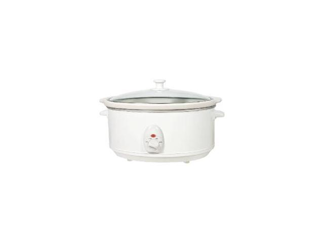 6.5 Quart Slow Cooker - White