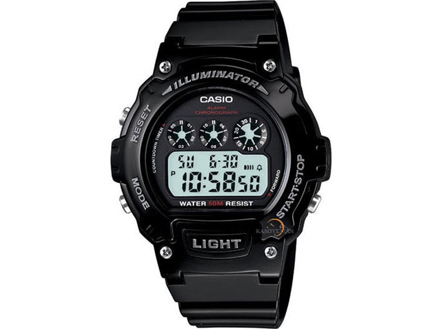 Casio Classic Round Digital Wristwatch - Black/Black