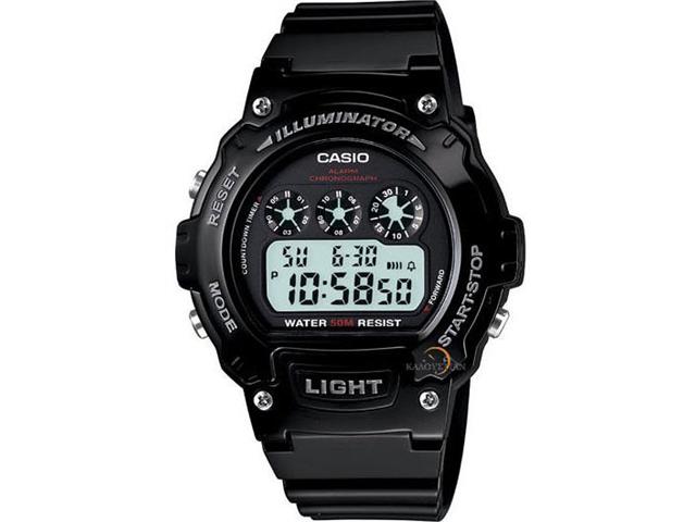Casio Classic Round Digital Wristwatch - Black/Black