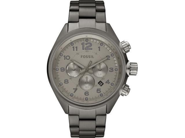 Fossil CH2802 Men's Silver Stainless-Steel Analog Quartz Watch with Silver Dial