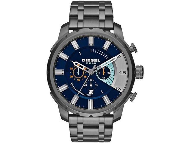 Men's Gunmetal Diesel Stronghold Chronograph Watch DZ4358