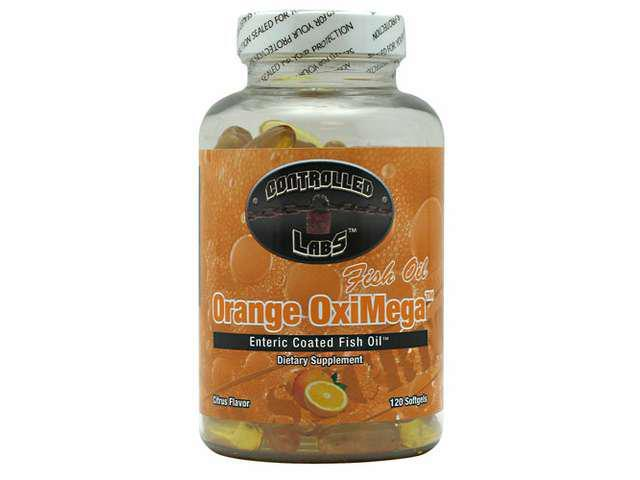 Orange OxiMega Fish Oil, 120 Softgels, From Controlled Labs