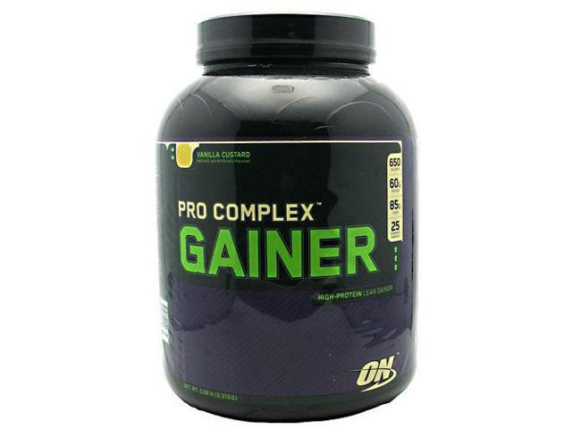 Pro Complex Gainer, Vanilla Custard, 5.08 lbs, From Optimum Nutrition
