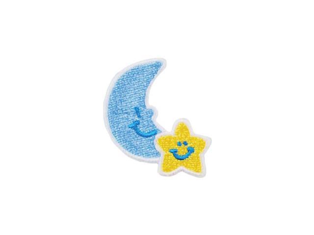 Iron-On Appliques-Moon & Star 1/Pkg