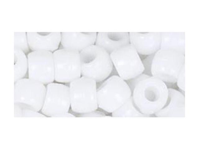 Fun Pack Acrylic Pony Beads 250/Pkg-White
