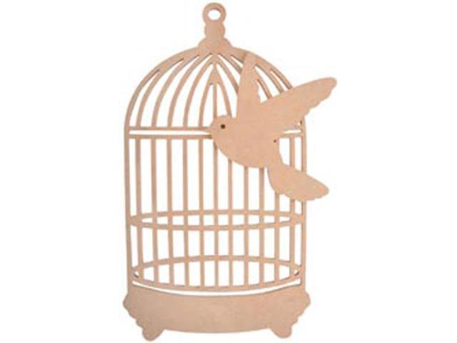 Beyond The Page MDF Traditional Birdcage With Bird-9.5