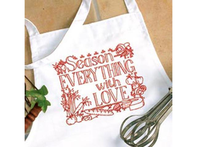 Season Everything Apron Stamped Cross Stitch -One Size Fits All