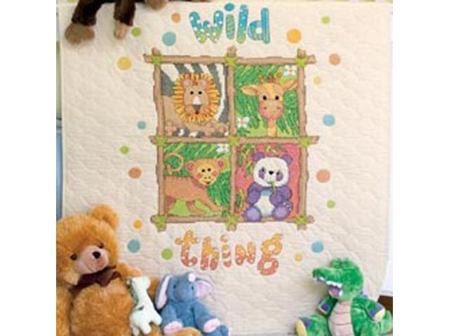 Baby Hugs Wild Thing Quilt Stamped Cross Stitch Kit-34