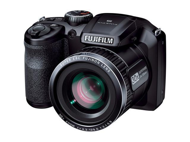 FUJIFILM FinePix S4800 Black 16.0 MP 30X Optical Zoom 24mm Wide Angle Digital Camera HDTV Output