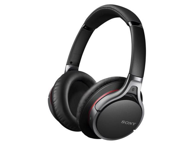 Sony MDR-10RBT Premium Over-Ear Wireless Bluetooth Noise-Cancelling Headphones (Black)