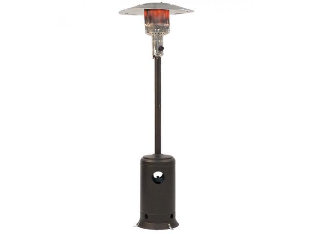 Patio Heater Tall Mocha Finish Garden Outdoor Heater Propane Standing LP Gas