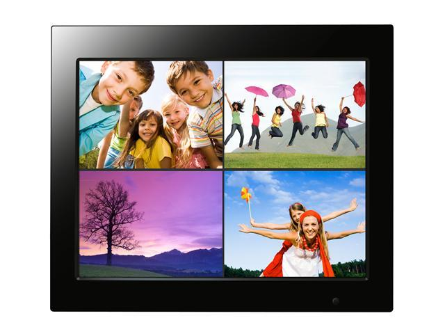 "Wintec Joy Series 15"" Digital Photo Frame with remote Control. plays Movies and Music, Alarm, Calendar, Split Screen and ..."