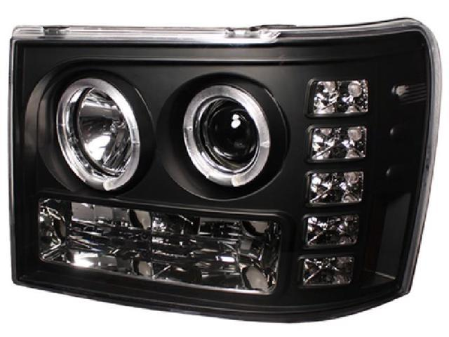 IPCW CWS-3041B2 Gmc Sierra 2007 - 2013 Head Lamps, Projector With Rings Black