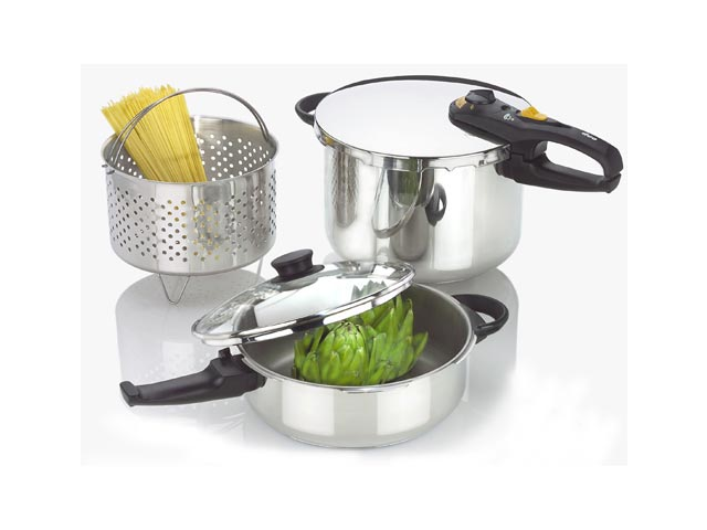 Fagor Duo Stainless Steel 4 and 8 Quart Pressure Cooker Set