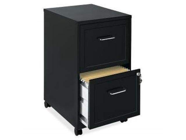 Lorell 16872 2 Drawer Mobile File Cabinet, 18 Inch