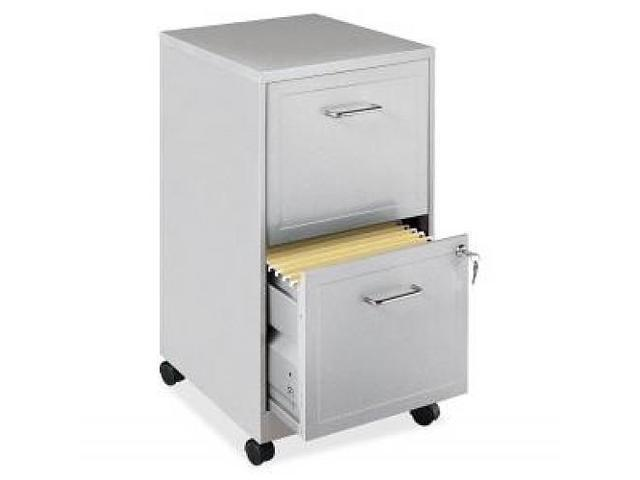 Steel Mobile File Cabinet 2-DR 14-1/4