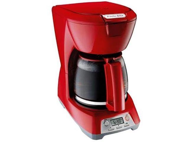 proctor silex 12 cup coffee maker red. Black Bedroom Furniture Sets. Home Design Ideas