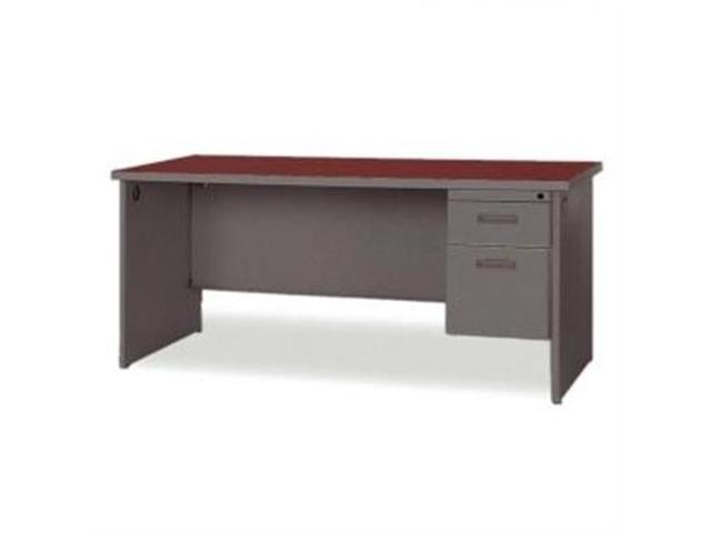 Lorell 67254 Durable Single Pedestal Desk, 2 x Box, File Drawer(s