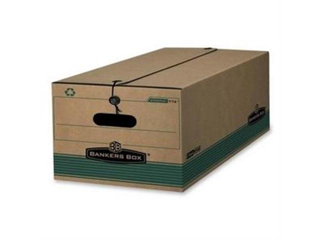 Fellowes Mfg. Co. FEL00774 Recycled Stor-File- Legal- 15in.x24in.x10in.- 12-CT- Kraft-Green