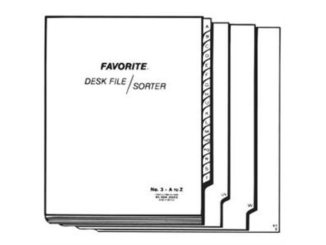ACCO 3C Wilson Jones A-Z Favorite Desk File Sorter Printed1 Each