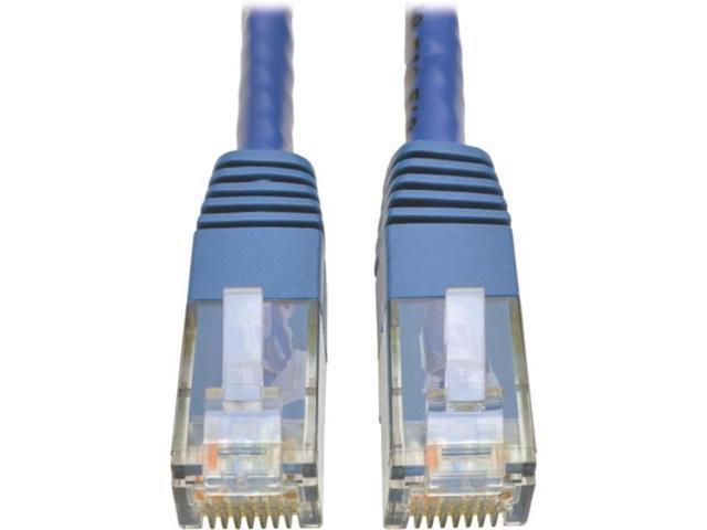 Tripp Lite N200-007-BL Cat6 Gigabit Molded Patch Cable, 7 ft. RJ45 (M/M), 550MHz 24 AWG Blue 7' (N200-007-BL)