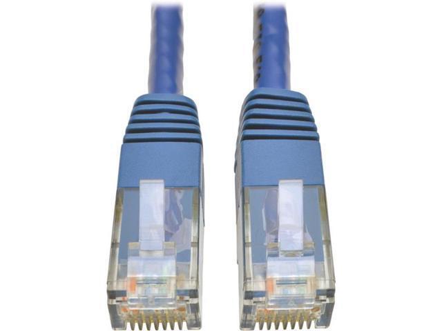Tripp Lite Cat6 Gigabit Molded Patch Cable, 1 ft. RJ45 (M/M), 550MHz 24 AWG Blue 1' (N200-001-BL)