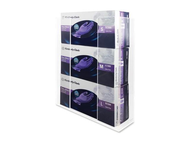 Kantek KTKAH130 Glove Box Holder- Triple- 11in.x3-.50in.x14-.50in.- Clear