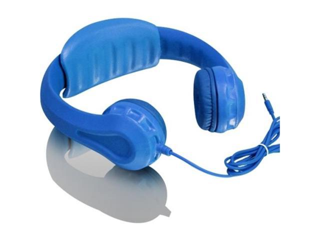 Aluratek Volume Limiting Wired Foam Headphones For Children (Blue) - Stereo - Blue - Mini-phone - Wired - Over-the-head - Binaural - Circumaural