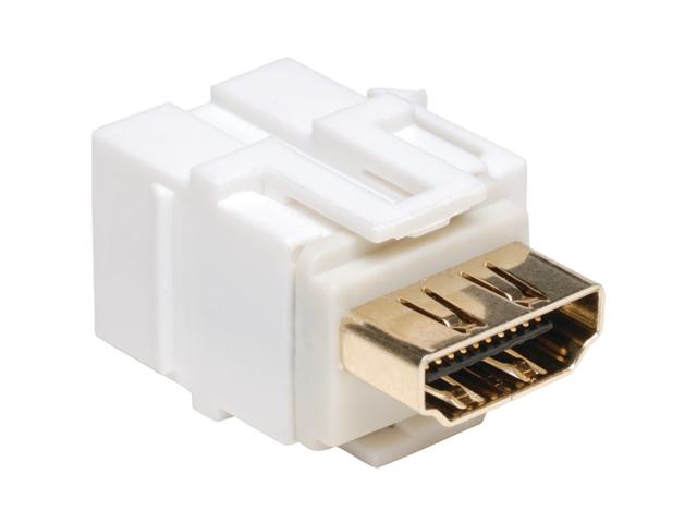 TRIPP LITE P164-000-KJ-WH HDMI(R) Keystone Snap-In Wall Plate Coupler