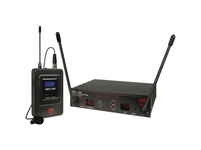 Nady UWS-100 LT/O 100 Channel Select UHF Wireless Bodypack Lavaliere Microphone System