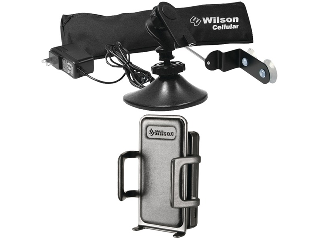 Wilson Electronics Sleek Cell Phone Signal Cradle Booster & Home/Office Accessory Kit 815226/859970