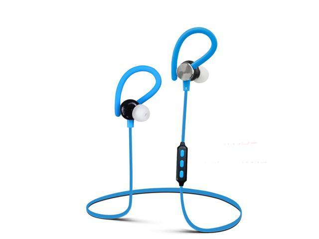 (Blue)Wireless Bluetooth V4.1 Sport Headphone Hanging Ear Type Stereo with Microphone for Sport Headphone