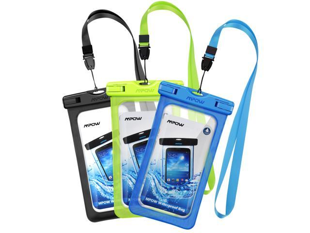 Mpow Waterproof Case, Cellphone Dry Bag, Universal Smartphone Pouch for iPhone 7/7 Plus, Galaxy /Google Pixel/LG/HTC (3-Pack)