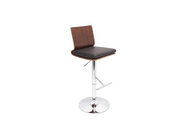 LumiSource Koko Bar Stool in Walnut & Brown - BS-JY-KOWAL-BN