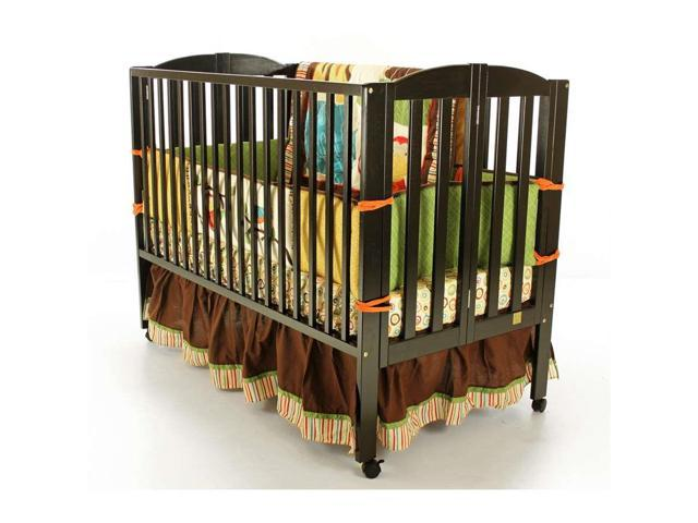 Dream on Me Folding Full Size Crib, Black - 673-K