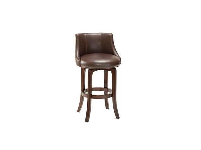 Hillsdale Napa Valley Swivel 25 Inch Counter Height Stool in Brown