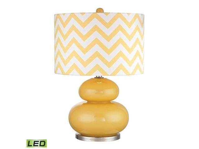 Dimond Tavistock Table Lamp in Sunshine Yellow with Polished Nickel - D2501-LED