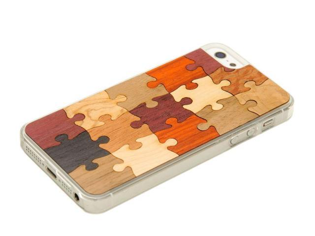 CARVED - iPhone 5 / 5S Random Puzzle - Wood iPhone 5 / 5S Clear Case