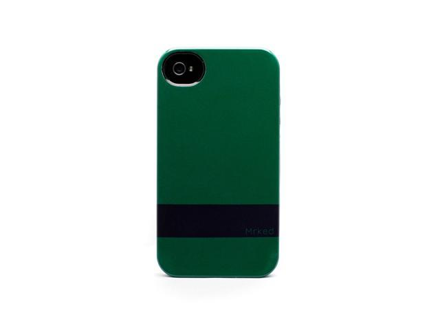 Shamrock-Midnight Blue Protective Case by MRKED for iPhone 4 & 4S