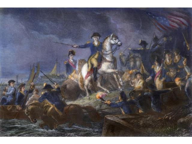 New York Retreat 1776 Ngeneral George Washington Directing The Retreat From Brooklyn Heights To New York 30 August 1776 Following The Battle Of Long Island Steel Engraving C1860 By James Charles Armyt