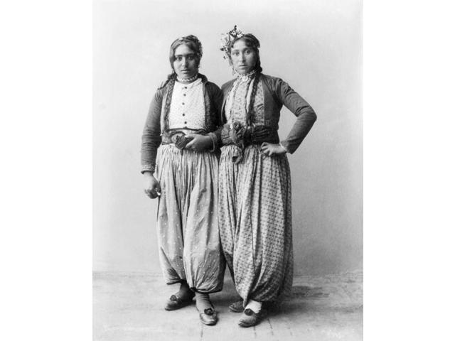 Palestine Gypsies 1893 Ntwo Gypsy Women Of Palestine Photographed 1893 Poster Print by  (18 x 24)